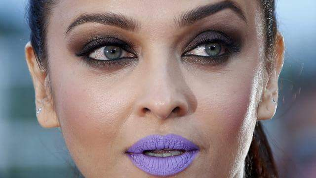 Aishwarya purple lips