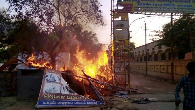 Clashes in Mathura