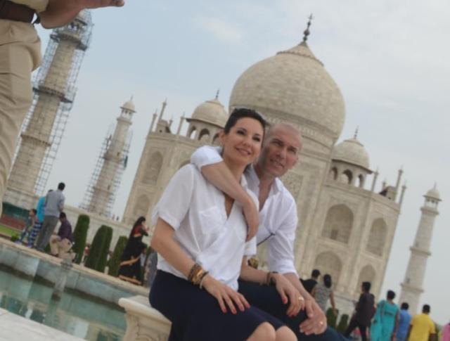 Zinedine Zidan in Taj Mahal