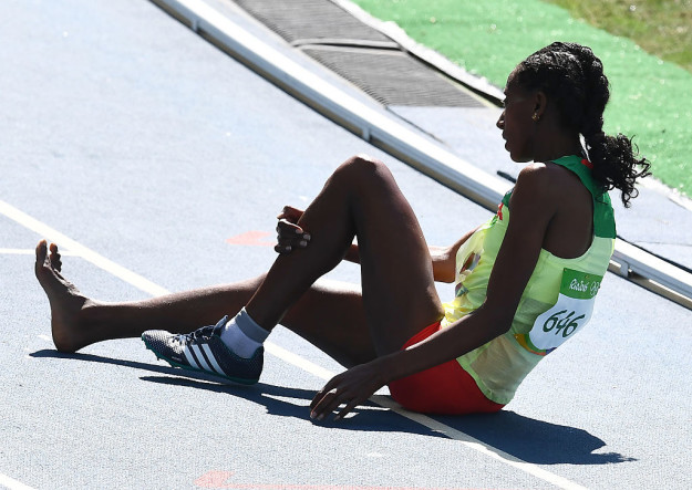 after the race