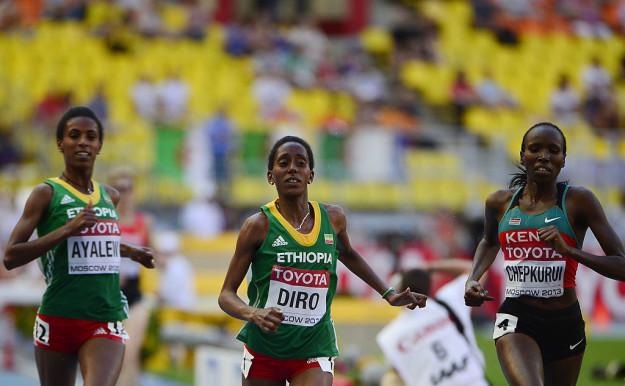 Etenesh Diro stats her run