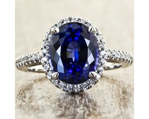 Colored Engagement Ring
