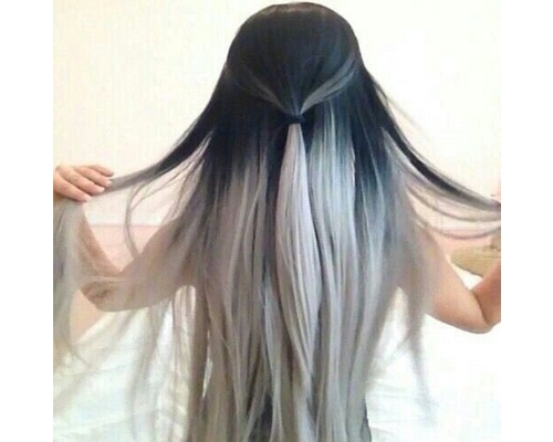 Silver Ombre Hair Color
