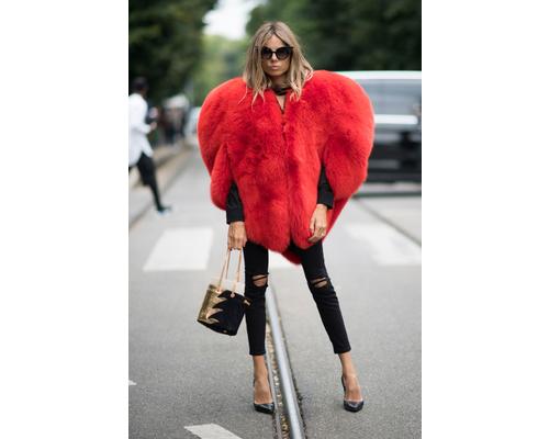 Yves Saint Laurent Heart Fur Jacket Milan Fashion Blogger