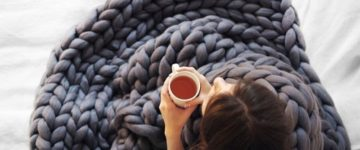 Chunky Knitted Blanket pattern