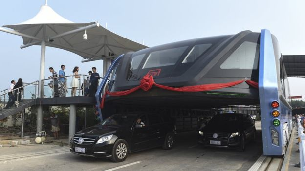 China's elevated bus now being investigated for illegal fundraising